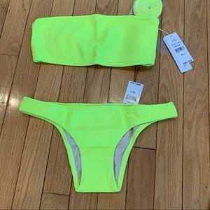 PILYQ - PQ-Pineapple Reef Bandeau Teeny Bikini S